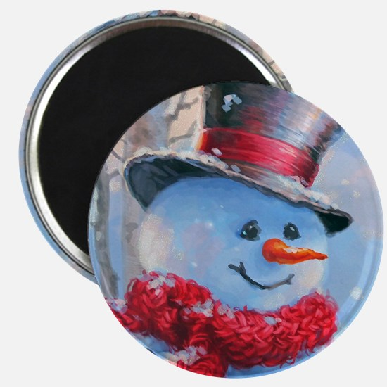 Snowman in the Woods Magnets