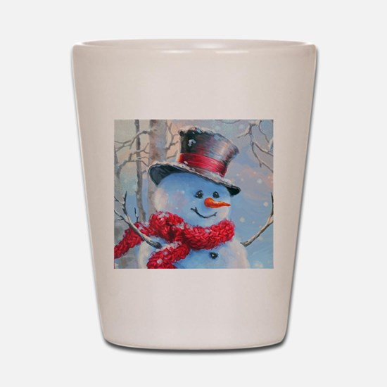 Snowman in the Woods Shot Glass