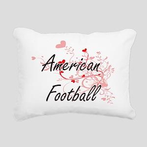 American Football Artist Rectangular Canvas Pillow