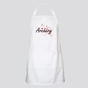 Archery Artistic Design with Hearts Apron
