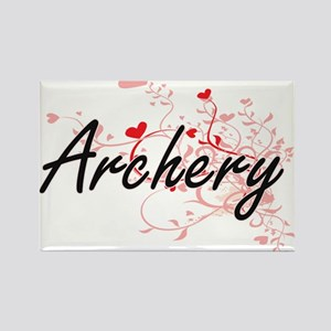 Archery Artistic Design with Hearts Magnets