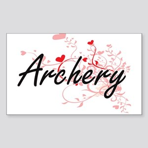 Archery Artistic Design with Hearts Sticker
