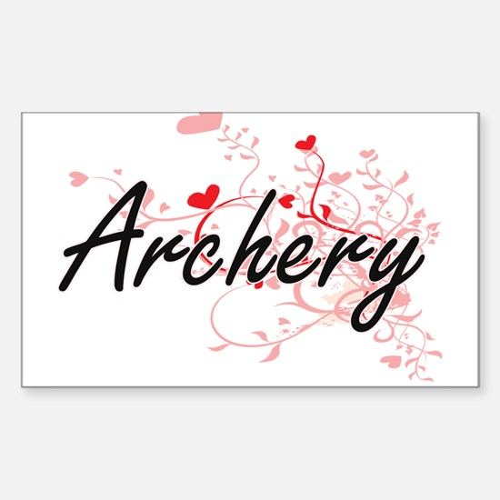 Archery Artistic Design with Hearts Decal