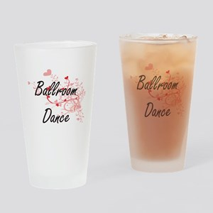 Ballroom Dance Artistic Design with Drinking Glass