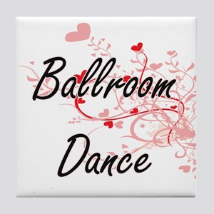 Ballroom Dance Artistic Design with H Tile Coaster