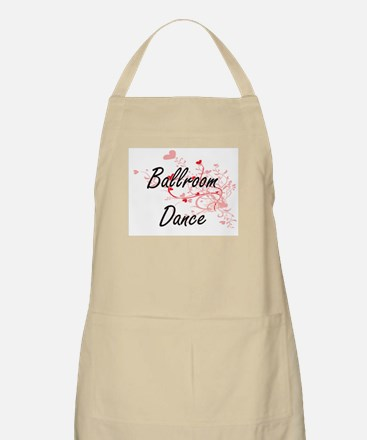 Ballroom Dance Artistic Design with Hearts Apron