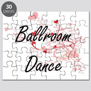 Ballroom Dance Artistic Design with Hearts Puzzle