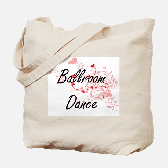 Ballroom Dance Artistic Design with Heart Tote Bag