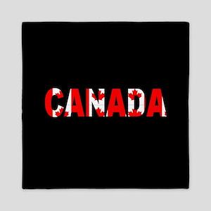 Canada-Black Queen Duvet