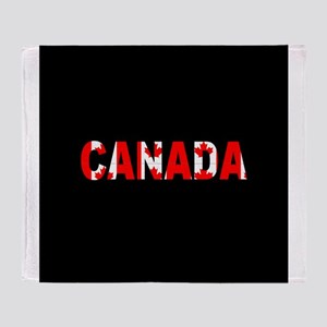 Canada-Black Throw Blanket