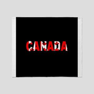 Canada-Black Throw Blanket