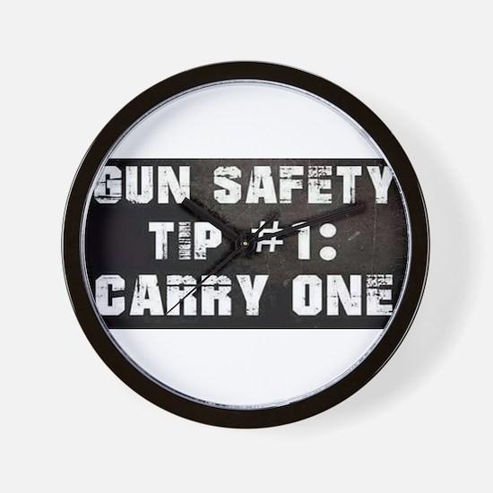 GUN SAFETY TIP Wall Clock