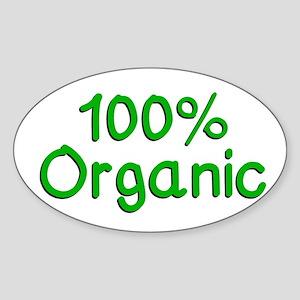 100 % Organic Sticker