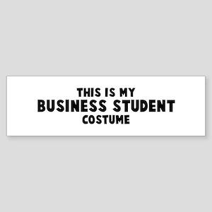 Business Student costume Bumper Sticker