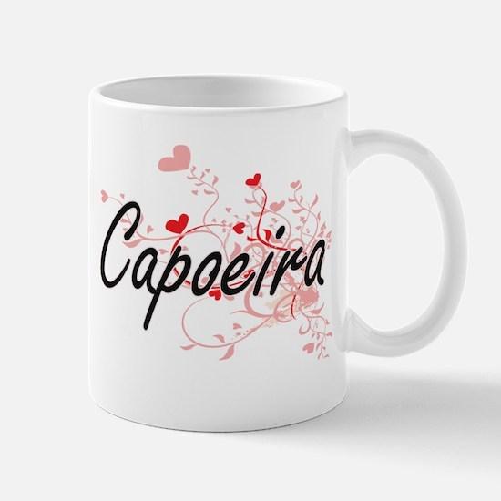 Capoeira Artistic Design with Hearts Mugs