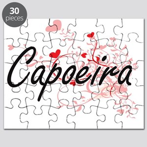 Capoeira Artistic Design with Hearts Puzzle