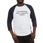 Stronger - Colitis Baseball Jersey