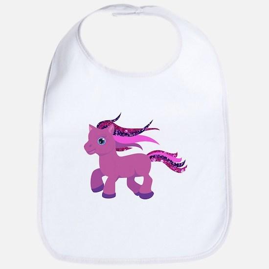 glitter pony Bib