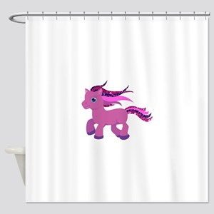 glitter pony Shower Curtain