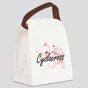 Cyclocross Artistic Design with H Canvas Lunch Bag
