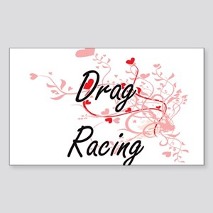 Drag Racing Artistic Design with Hearts Sticker