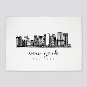 New York City Skyline 5'x7'Area Rug