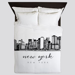 New York City Skyline Queen Duvet