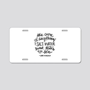 Salt Water Cure Aluminum License Plate