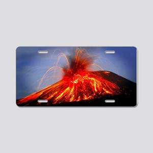Krakatoa Volcano Hawaii Aluminum License Plate