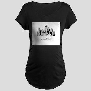 Seattle Skyline Maternity T-Shirt