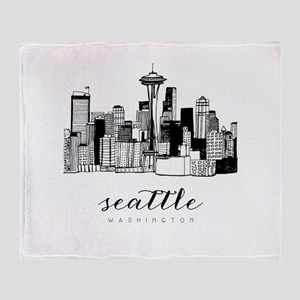 Seattle Skyline Throw Blanket