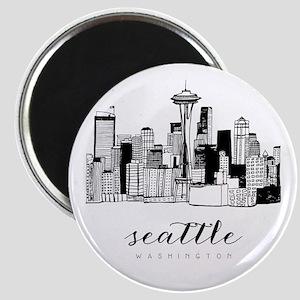 Seattle Skyline Magnets