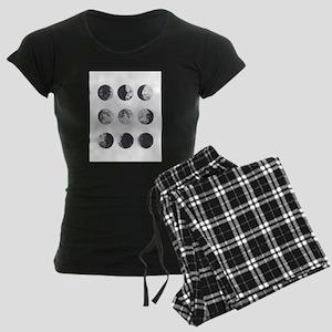 Moon Phases Women's Dark Pajamas