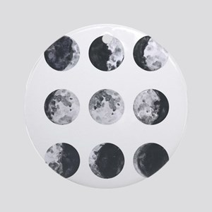 Moon Phases Round Ornament