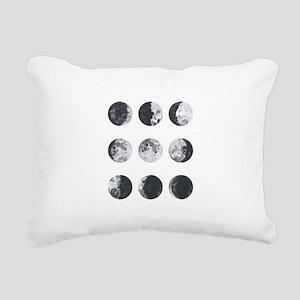 Moon Phases Rectangular Canvas Pillow