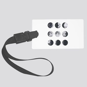 Moon Phases Large Luggage Tag