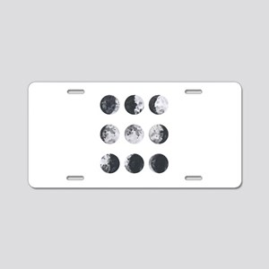Moon Phases Aluminum License Plate