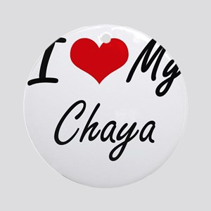 I love my Chaya Round Ornament