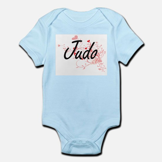 Judo Artistic Design with Hearts Body Suit