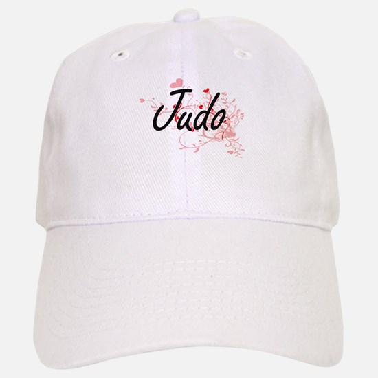 Judo Artistic Design with Hearts Baseball Baseball Cap