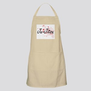 Ju-Jitsu Artistic Design with Hearts Apron