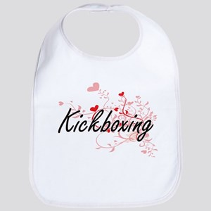Kickboxing Artistic Design with Hearts Bib