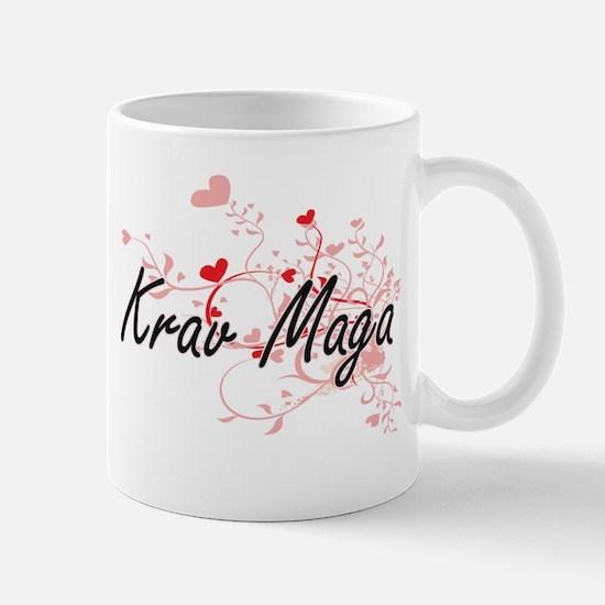 Krav Maga Artistic Design with Hearts Mugs