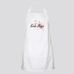 Krav Maga Artistic Design with Hearts Apron