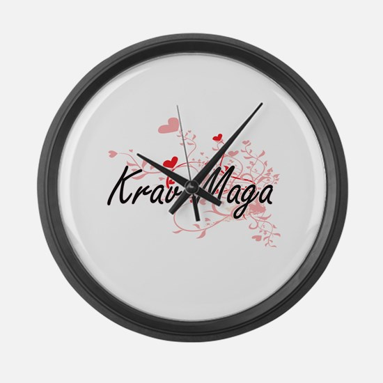 Krav Maga Artistic Design with He Large Wall Clock