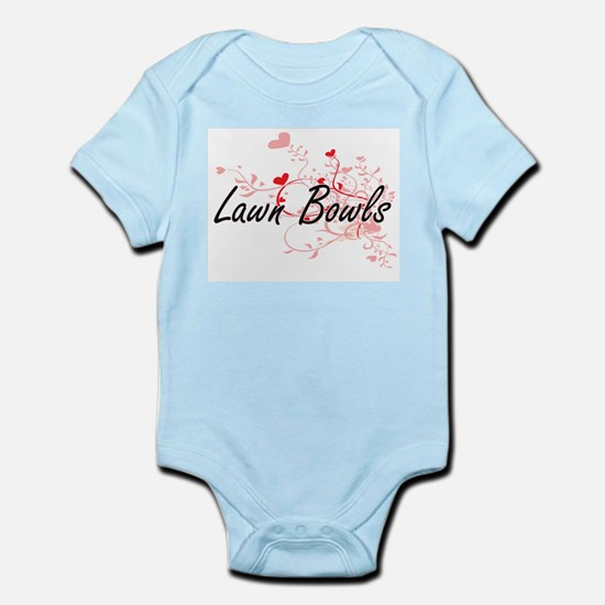 Lawn Bowls Artistic Design with Hearts Body Suit