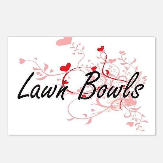 Lawn Bowls Artistic Desig Postcards (Package of 8)