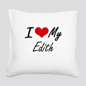 I love my Edith Square Canvas Pillow