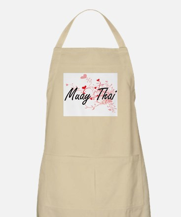 Muay Thai Artistic Design with Hearts Apron