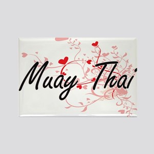 Muay Thai Artistic Design with Hearts Magnets